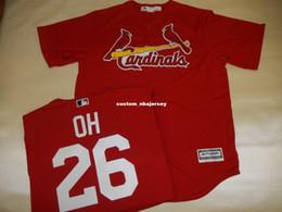 Baseballs Cheap Canada - Cheap custom SEUNG HWAN OH SEWN Baseball Jersey ALT RED Stitched Customize any name number MEN WOMEN BASEBALL JERSEY XS-5XL