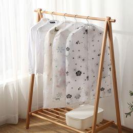 Clothe Bags Australia - Wholesale! PEVA New watterproof Home Storage Protect Cover Travel Bag Garment Suit Dress Clothes Coat Jacke Dustproof Cloth Covers 60*80cm