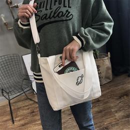 $enCountryForm.capitalKeyWord Australia - Original Creative Double Use Canvas Bag Classic Black White Color With Drink Print Cross Body Tote Bags Girls Portable Handbag