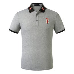 hot new polo shirts NZ - FF New fashion Casual high quality Summer Hot Sale Stripe T-shirt lapel Polo Cotton Shirt Men Short Sleeve Sport Polo T-Shirt 4