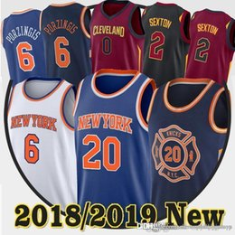 0f49a8abc Sexton New York jerseys Kristaps 6 Porzingis Knicks Kevin 20 Knox Kevin 0  Love Collin 2 Sexton jerseys