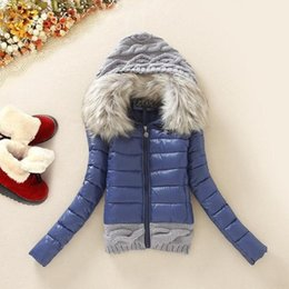 Fur coat wadded online shopping - Large Fur Collar Down Jacket Women Winter Thickening With A Hood Short Design Wadded Coat Cotton paddedMX190822