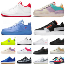 Großhandel FORCE 1 ONE AF1 Luxus Designer Schuhe Männer Frauen Kräfte Rot Classicl Schwarz Weizen Weiß High Low Herren Sneakers Laufschuhe Forceing Skate Sneaker