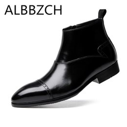 Business dress ankle boots men fashion wedding shoes mens leisure party  office work short boots simple elegant pointed toe 122838750de7
