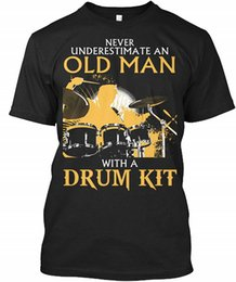 New drum kits online shopping - T Shirt New Short Old Man With A Drum Kit Men O Neck Short Sleeve T Shirts