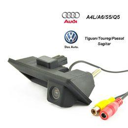 $enCountryForm.capitalKeyWord Australia - HD CCD Car Rear view Backup Reverse Camera Handle button for Audi VW Skoda Passat Tiguan Golf Touran Toureg Sharan A4L S5 Q3 Q5 A8L