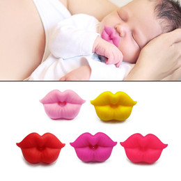 Lips Baby Dummy Australia - Grade Silicone Funny Baby Pacifiers Lip Mouth Shape Dummy Nipples Teether Toddler Pacy Orthodontic Soother Baby Pacifier