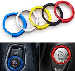 Oto Motor Start Stop Dekorasyon Halka Araç Şekillendirme Vaka İçin Bmw 4 3 2 1 Serisi F30 F20 F32 X1 F48 F45 İç Aksesuar