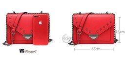 Metal Fines Australia - Cost Prices Sale Ladies Leather Shoulder Bags 22cm Small Square Stars Metal Rivets Crossbody Gun Color Fine Chain