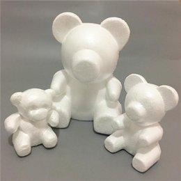 styrofoam crafts Canada - 35mm Modeling Bear Foam Polystyrene Styrofoam White Bear Foam Gifts Heart Ball Ornaments Crafts Flower Christmas Party Gifts