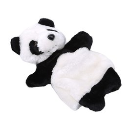 cute puppets UK - Animal Panda Hand Puppet Baby funny toys Kids Plush Doll Educational Toy Kindergarten Cute soft Hand Puppets