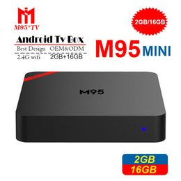 quad support NZ - Original M95 MINI Cheapest Android 7.1 Tv Box Quad Core 1GB 8GB 2GB 16GB Android 7.1 IPTV Box Support 2.4G Wifi 4K Steaming Media Players