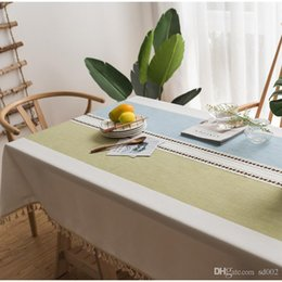 $enCountryForm.capitalKeyWord Australia - Embroidery Tassel Tablecloth Cotton And Linen Small Fresh Table Cloth Coffee House Home Decorate Supplies Rectangle Hot Sales 56lx8C1
