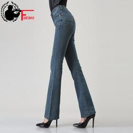7c80f7900d Plus Size Bell Bottom Pants Australia - Women Autumn Slim Fit Mid Waist Flare  Jeans Plus