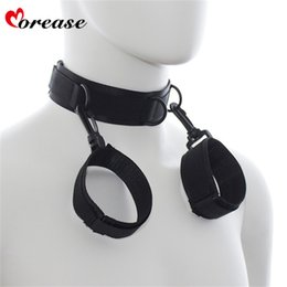 bdsm collared slave women Australia - Morease 2 in 1 BDSM Sex Toys Bondage Necklace With Hands Erotic Fetish Collar Slave Hand s Adult Games For Couples Women C18112701