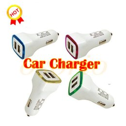 $enCountryForm.capitalKeyWord Australia - LED Dual Usb Car Charger Vehicle Portable Power Adapter 5V 1A For Samsung S8 Note 8 iphone charger