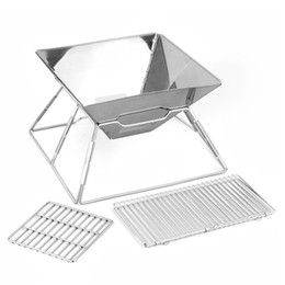 Mini Portable Stainless Steel Charcoal Bbq Grill Rack Folding Bbq Barbecue Accessories Portable Home Kitchen Suitable for 2-5 people on Sale