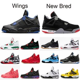 plastic pale Australia - New 2019 Arrival Bred Pale Citron Tattoo 4 Iv 4s Men Basketball Shoes Pizzeria Singles Day Royalty Black Cat Mens Trainers Sports Sneakers