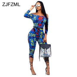 $enCountryForm.capitalKeyWord Australia - Colorful Letter Printed Sexy Bodycon Jumpsuit For Women Slash Neck Off The Shoulder Party Catsuit Streetwear Long Sleeve Romper J190716