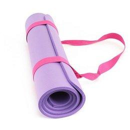 Carry Sling Strap Australia - New Portable Yoga Mat Sling Sports Canvas Belt Fitness Gym Adjustable Carrier Shoulder Carry Strap