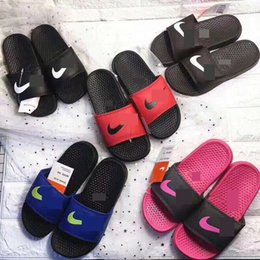 Soft bathroom SlipperS online shopping - Summer Kids Designer Slipper Brand NK Boys Girls Sandals Luxury Children Soft Rubber Sole Flip Flops Home Outdoor Beach Bathroom ShoesC61803