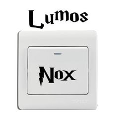 $enCountryForm.capitalKeyWord Australia - Classic Movie Switch Sticker Lumos Nox Wall Stickers for Kids Room Bedroom Living Room Home Decor 001