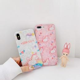Cartoon Iphone6 Plus Case Australia - Phone Case for iPhone6 6s 6p 6sp IPhone7 8 7p 8p IPhonex xs xr xs Max Lovely cartoon Unicorn and Transparent edge imd