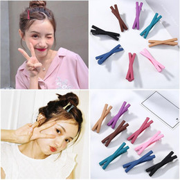 $enCountryForm.capitalKeyWord Australia - Wholesale Lovely Candy Color Cross Edge Clip Grind Arenaceous Hairpin Butterfly Hair Pin Girls Hair Fringe Styling Barrette Hair Accessories