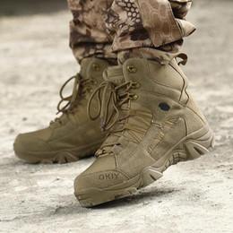 Zapatos de marca al aire libre Senderismo famosos hombres de las Fuerzas Especiales del Ejército combate táctico botas de agua antideslizante de las zapatillas de deporte transpirable zapatos de trekking en venta