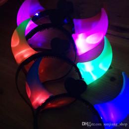 $enCountryForm.capitalKeyWord Australia - Christmas Ox Horn LED Party Headwear Flashing Light Halloween Hair Clasp Headband Xmas Birthday Gift Devil horns For bar club star concert