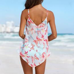 Wholesale mesh swimwear for women for sale – plus size Swimwear New Womens Tankini Sets Bikini Bottom Plus Size Mesh Layered Swimwear Swimsuits For women M12