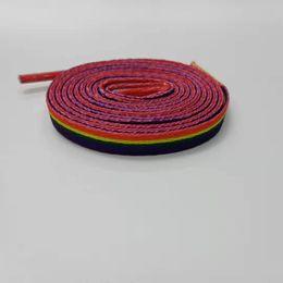 $enCountryForm.capitalKeyWord Australia - Digital Flat Multi Colored Shoelace Sublimation Polyester Star Shoe Lace 7mm Heat Transfer Coolstrings Laces Doughnut Shoelaces 120cm