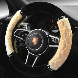 black fur steering wheel cover Australia - Steering Wheel Cover Set for Honda Accord 2016 9 Civic 2006-2011 2012 accessories Civic Steering Wheel Cover CRV Accessories Fit Jazz S2000