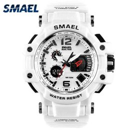 $enCountryForm.capitalKeyWord Australia - Smael Men Watches White Sport Watch Led Digital 50m Waterproof Casual Watch S Shock Male Clock 1509 Relogios Masculino Watch Man T190701