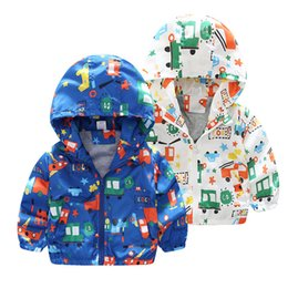$enCountryForm.capitalKeyWord Australia - 25 colors 2019 Newest Spring Kid Baby Boys Girls Dinosaur Hooded Zip Jacket Coat Windproof Casual Outerwear Fashion Cartoon Printed Coat