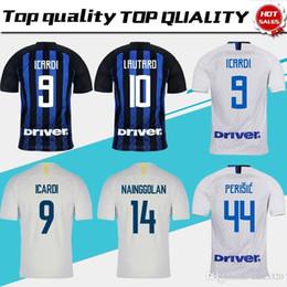 22d31d8923d Jersey Inter Home Soccer 2019 18 19 Inter Away Soccer Shirt  9 Icardi  10  Lautaro 3rd Football Uniform Sales