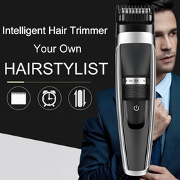 $enCountryForm.capitalKeyWord Australia - Professional Intelligent Electric Hair Trimmer Charging Powerful Hair Clipper Men's Haircut Adjustable Ceramic Blade For Home Public Hair