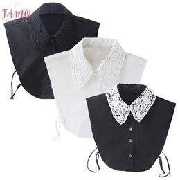 womens choker collars Australia - Womens Clothing Unisex Applique Women Men Detachable Lapel Shirt Blouse Fake Collar Choker Black White Necklace Hot
