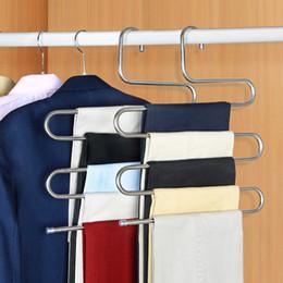 $enCountryForm.capitalKeyWord Australia - Stainless Steel Pants Hanger Trousers Shelf S-Shape Clothes Belt Towel Holder Closet Hanging Storage Rack Bathroom