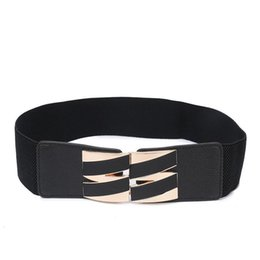wholesale cinch belts Australia - Women Plus Elastic Stretchy Retro Wide Waist Cinch Belt Cummerbund Black Wide Belts for Women Strap Waist Female Girls