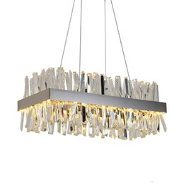$enCountryForm.capitalKeyWord NZ - Luxury rectangle crystal chandelier for dining room kitchen island lamps hanging modern led chandeliers indoor lighting fixtures