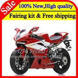 Fairings For Mv Agusta Australia - Body For MV Agusta F4 05 06 R312 Red white 750S 1000 R 750 1000CC 13HT4 1000R 312 1078 1+1 MA MV F4 Red 2005 2006 05 06 Fairing Bodywork