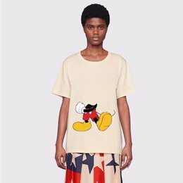 skateboard couples Canada - 20SS Made in Italy Cute Cartoon Rat Printed Tee Men Women Couples T-Shirt Summer Short Sleeves Casual High Street Skateboard Tee HFYMTX718