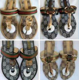 Vente en gros 2020 design de luxe Femmes Chaussons toes été Glissement sur les diapositives plat Plage Chaussures Louis Vuitton Femme Flops flip sandales de mode