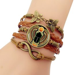 $enCountryForm.capitalKeyWord NZ - Jewelry Charm Bracelets good Egyptian scarab time gem bracelet retro butterfly 8 word combination bracelet sold well in Europe and America