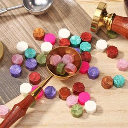 wax seal stamps wedding UK - ome & Garden 100Pcs Lot Retro Octagon Stamping Sealing Wax Beads Wax Seal Stamps for Envelope Documents Wedding Invitation Decorative Sup...