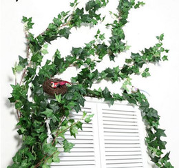 vines wall Australia - 190 CM Length Artificial Ivy Leaves Garland Wall Hanging Home decor Simulation Plants Vine Fake Leaves Foliage Flowers GB133