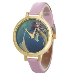 Discount watches designs for girls - Big Roung Dial Women Leather Narrow Strap Quartz Watch Wrist Mermaid Cheap Band Fashion Classic Design For Girls Valenti