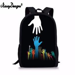 $enCountryForm.capitalKeyWord UK - NOISYDESIGNS Rock and Roll hand sign Printing Backpack For Boys Girls School Supplies Women Bag Men Laptop Rucksack Dropshipping