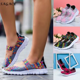 Girl Shoes For Women Australia - 2019 Dress CAGACE 2018 Casual shoes for women Soft Girls Sneaker Spring Summer Woven Lady Breathable Light Weight travel Shoes